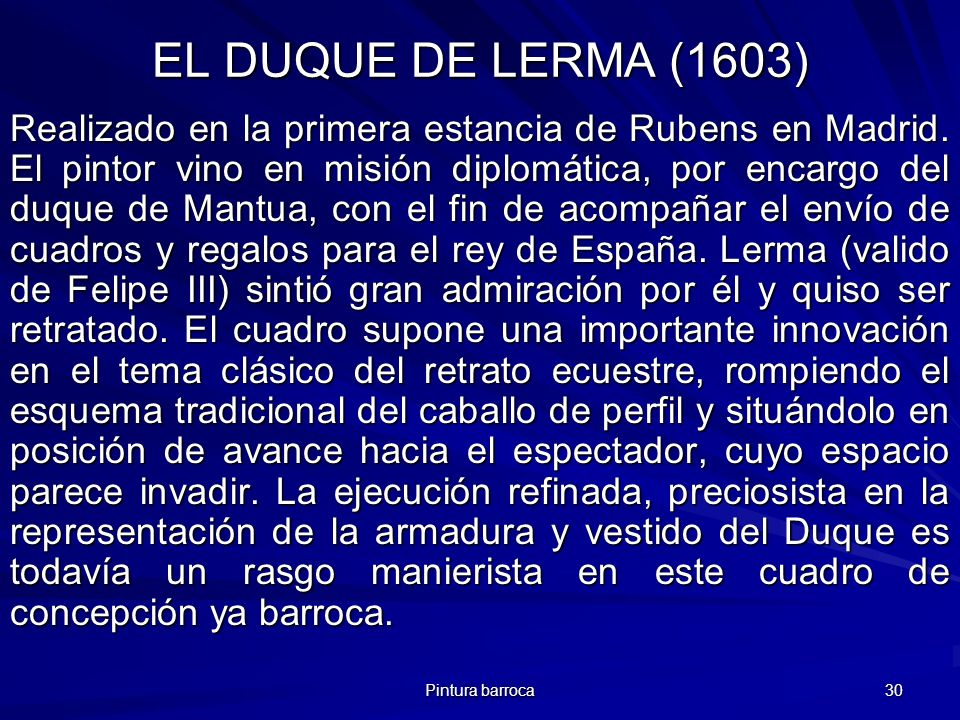 EL DUQUE DE LERMA (1603)