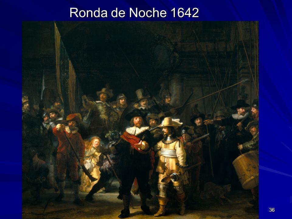 Ronda de Noche 1642 Pintura barroca