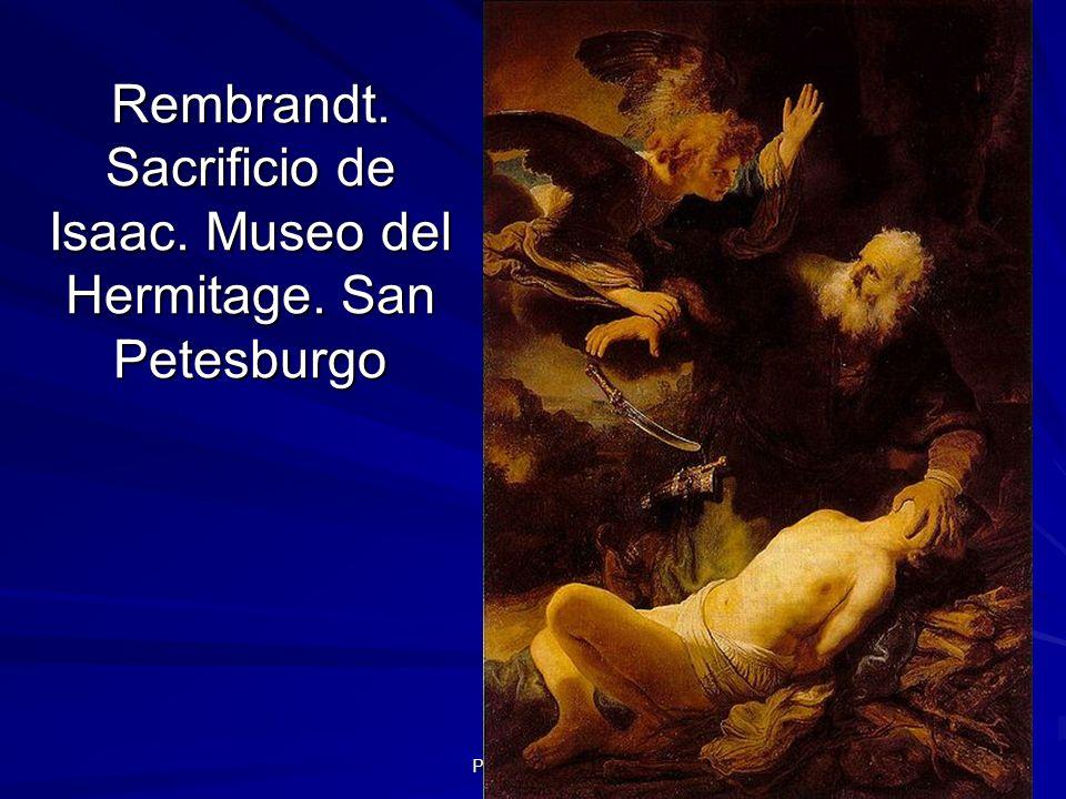 Rembrandt. Sacrificio de Isaac. Museo del Hermitage. San Petesburgo