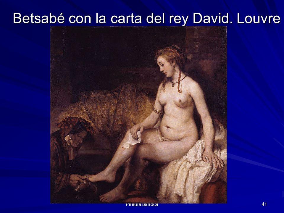 Betsabé con la carta del rey David. Louvre