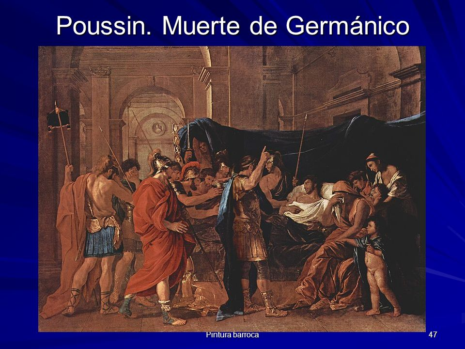 Poussin. Muerte de Germánico