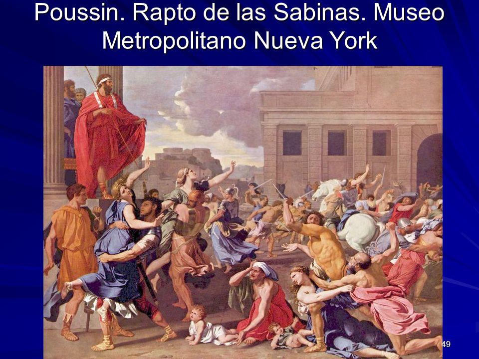 Poussin. Rapto de las Sabinas. Museo Metropolitano Nueva York