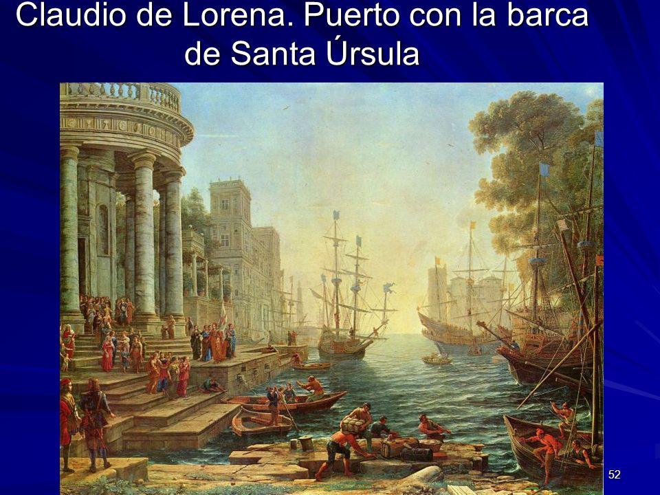 Claudio de Lorena. Puerto con la barca de Santa Úrsula