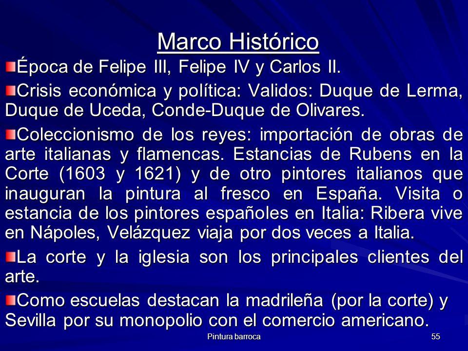 Marco Histórico Época de Felipe III, Felipe IV y Carlos II.