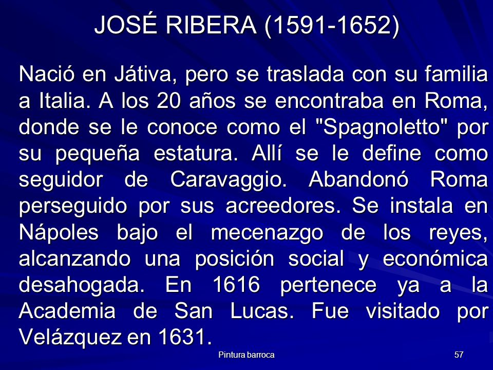 JOSÉ RIBERA (1591-1652)