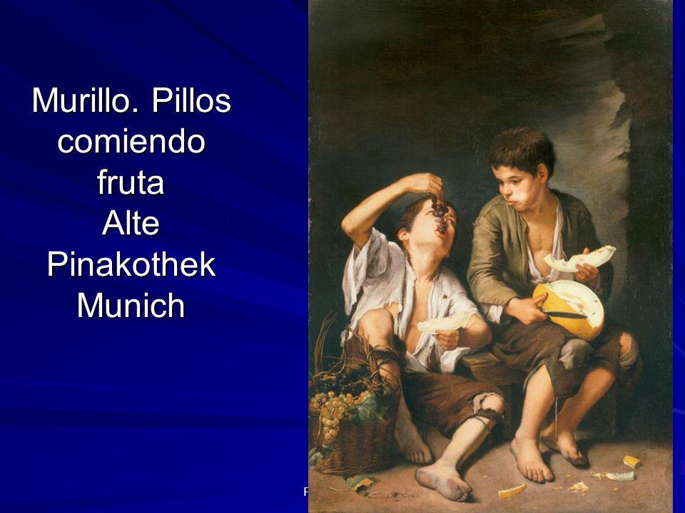 Murillo. Pillos comiendo fruta Alte Pinakothek Munich