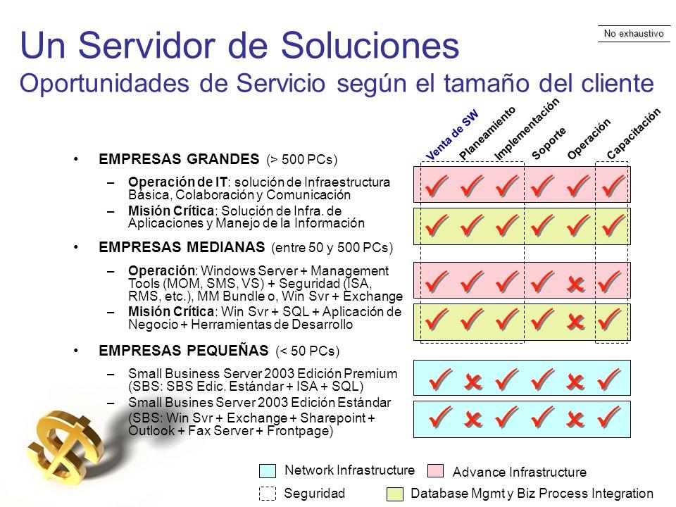 Un Servidor de Soluciones Oportunidades de Servicio según el tamaño del cliente