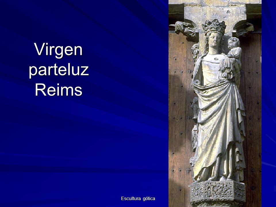 Virgen parteluz Reims Escultura gótica