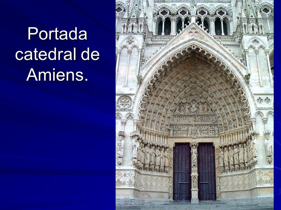 Portada catedral de Amiens.