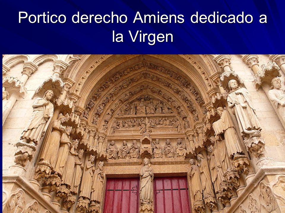 Portico derecho Amiens dedicado a la Virgen