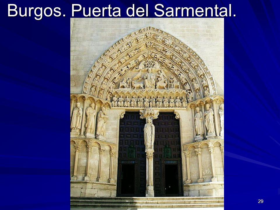 Burgos. Puerta del Sarmental.