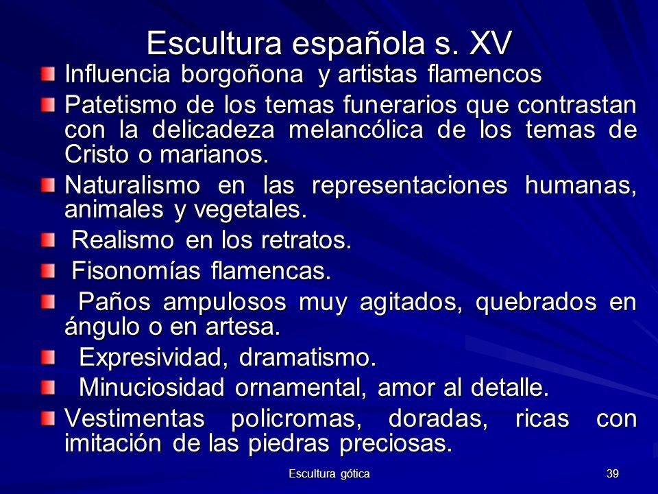 Escultura española s. XV