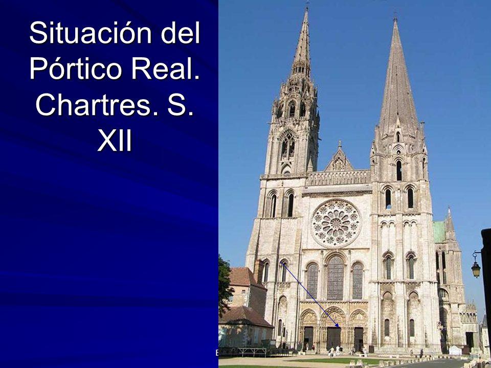 Situación del Pórtico Real. Chartres. S. XII
