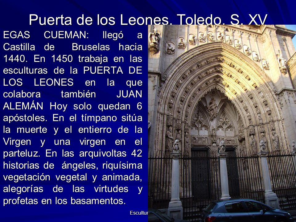 Puerta de los Leones. Toledo. S. XV