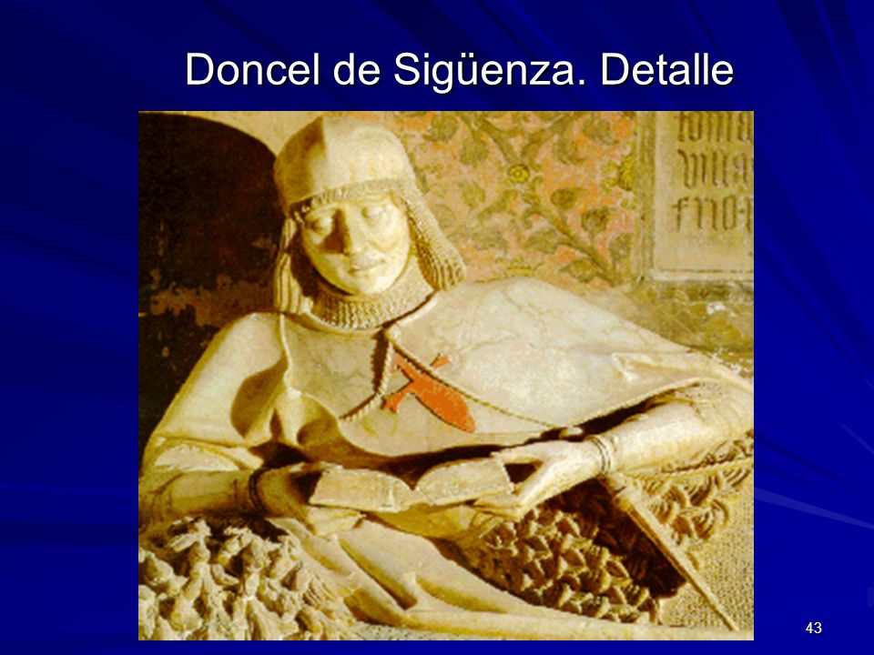 Doncel de Sigüenza. Detalle