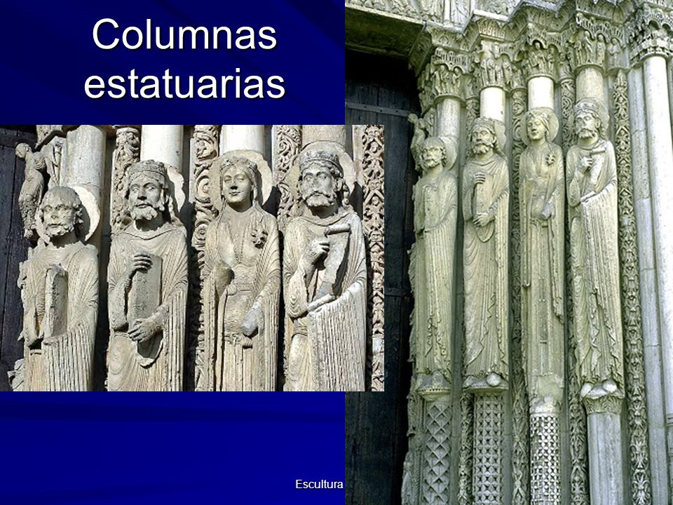 Columnas estatuarias Escultura gótica