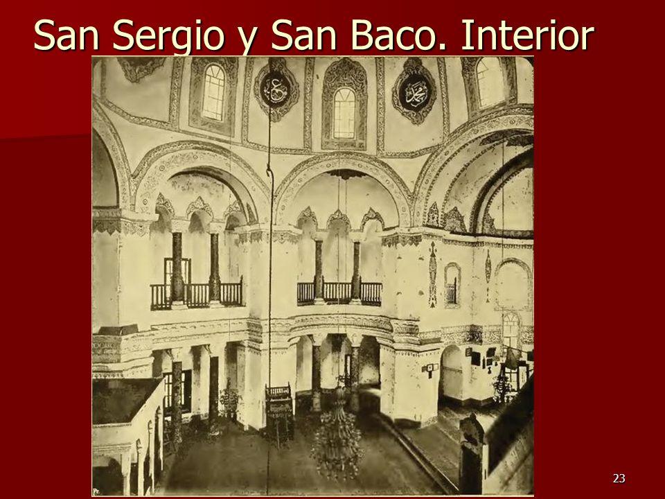 San Sergio y San Baco. Interior