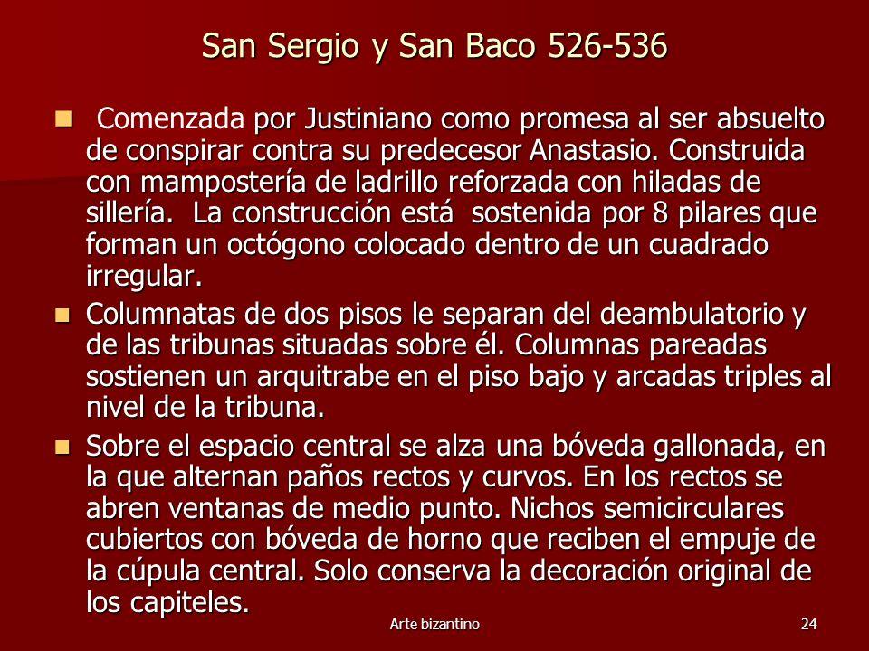 San Sergio y San Baco 526-536