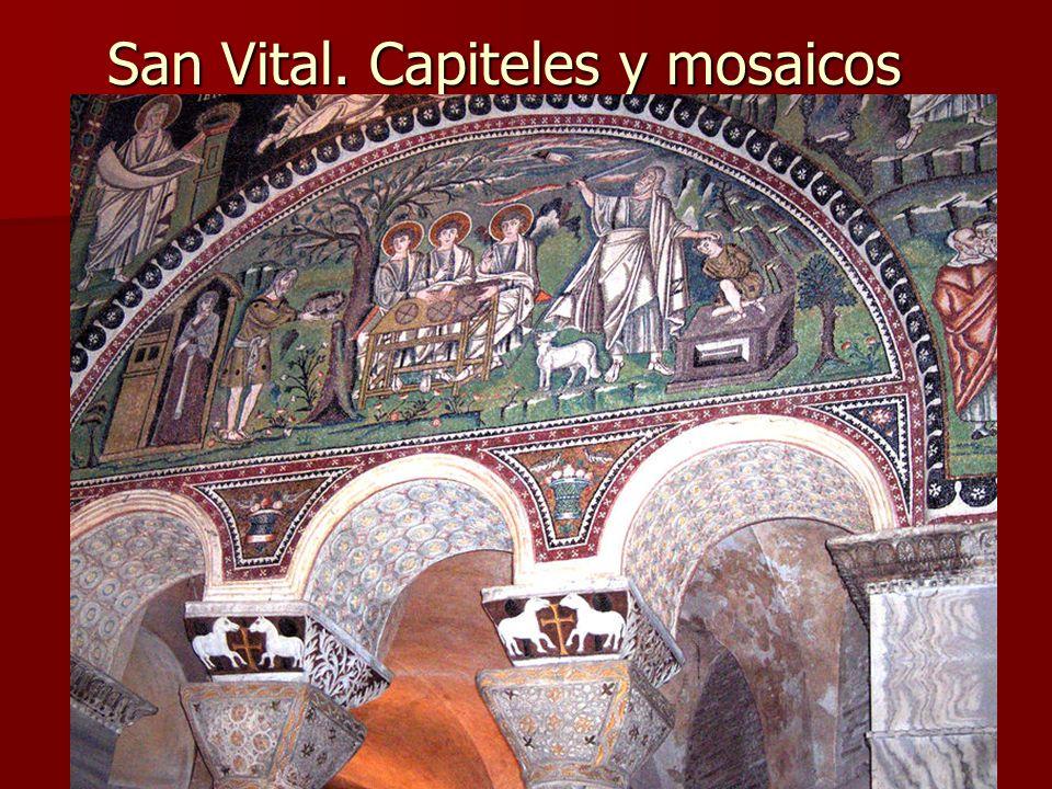 San Vital. Capiteles y mosaicos