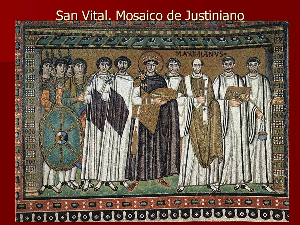 San Vital. Mosaico de Justiniano