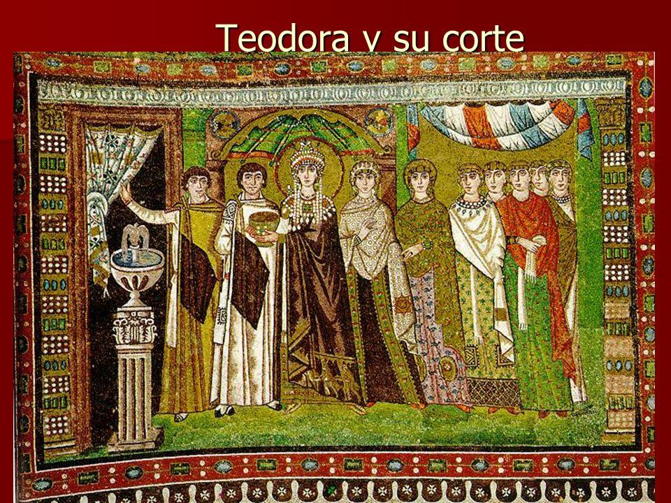 Teodora y su corte Arte bizantino