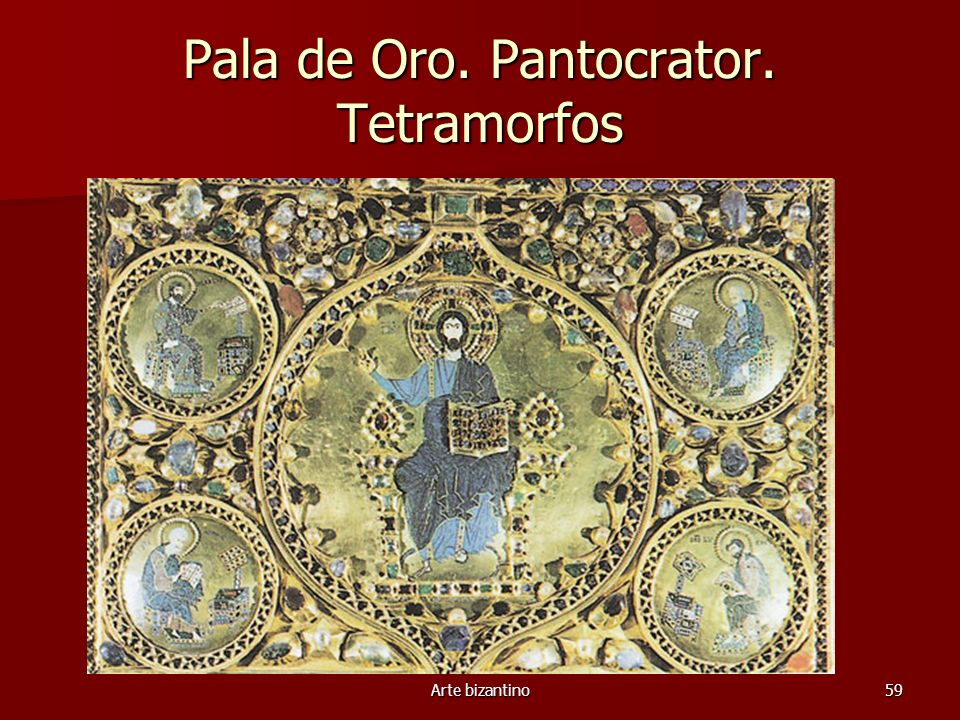 Pala de Oro. Pantocrator. Tetramorfos