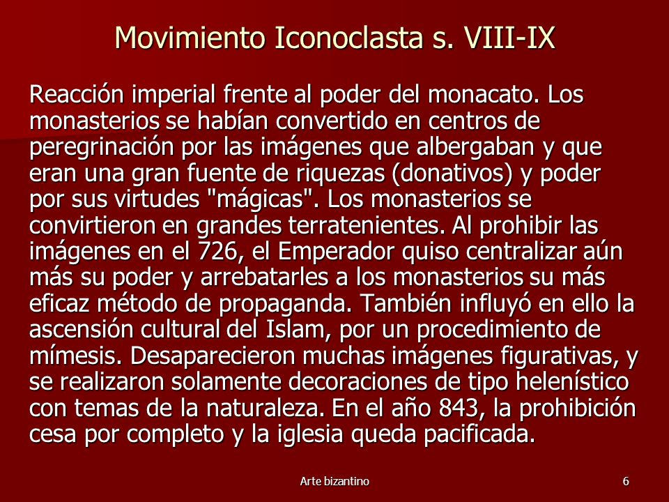 Movimiento Iconoclasta s. VIII-IX