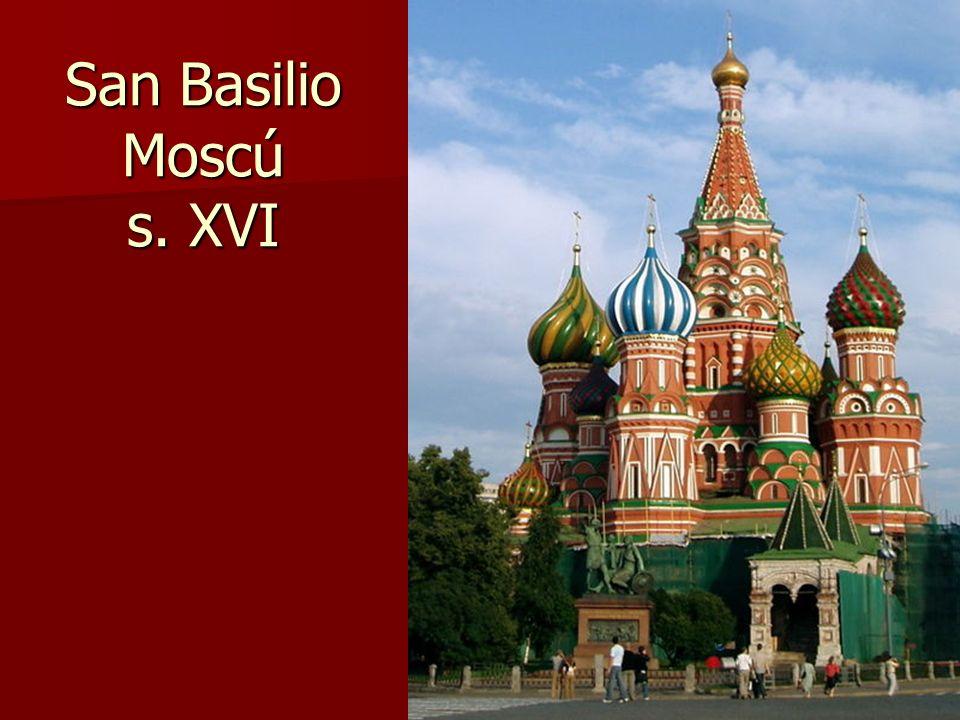 San Basilio Moscú s. XVI Arte bizantino