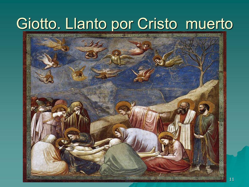 Giotto. Llanto por Cristo muerto