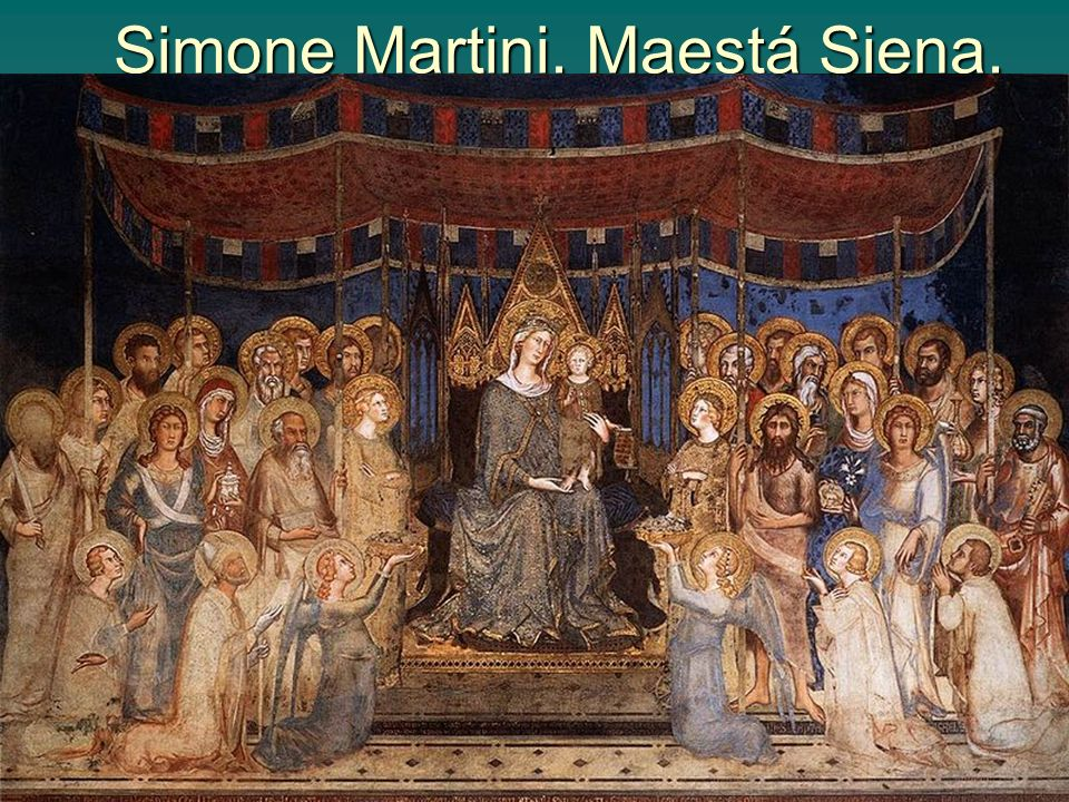 Simone Martini. Maestá Siena.