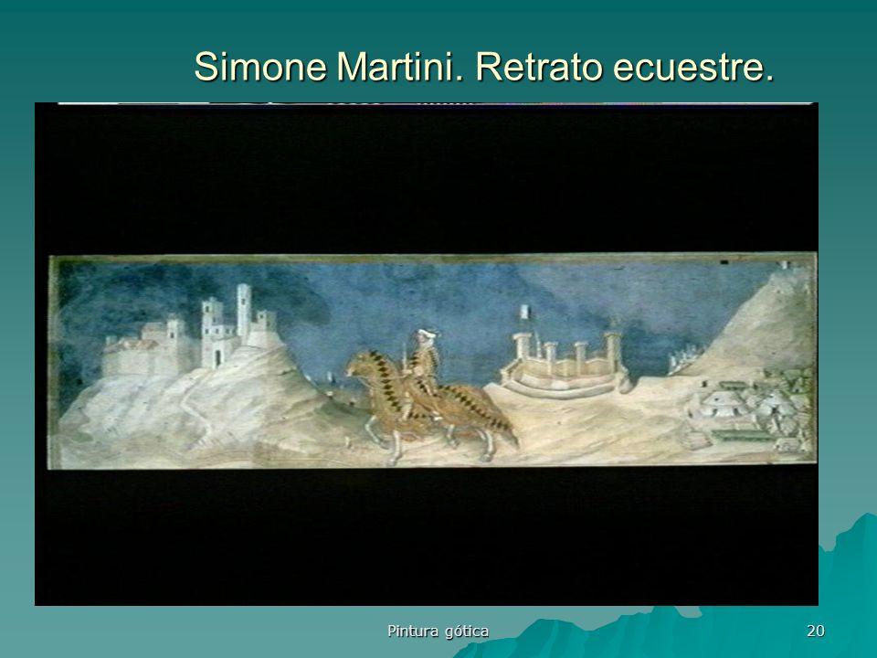 Simone Martini. Retrato ecuestre.