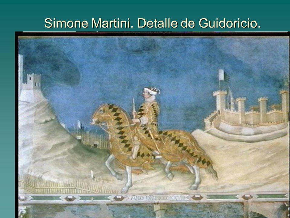 Simone Martini. Detalle de Guidoricio.