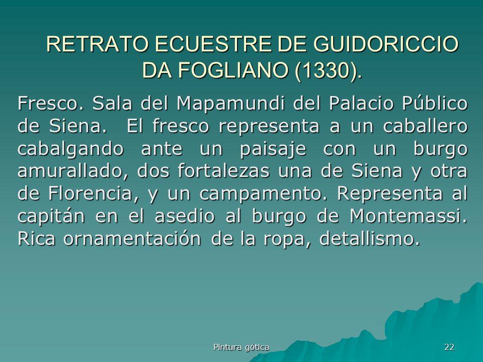 RETRATO ECUESTRE DE GUIDORICCIO DA FOGLIANO (1330).