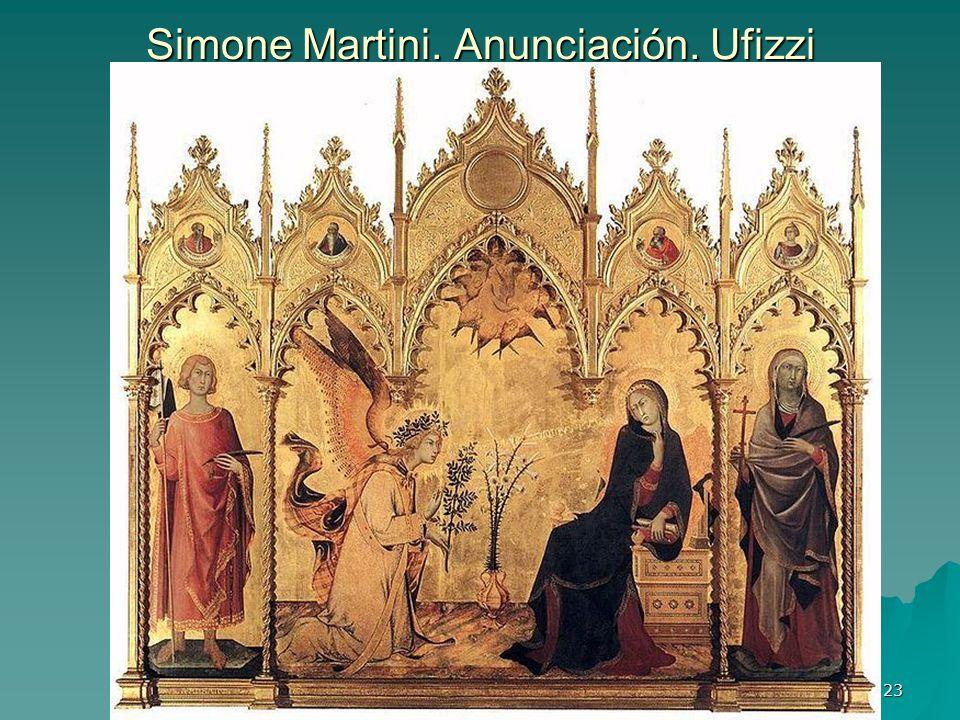 Simone Martini. Anunciación. Ufizzi