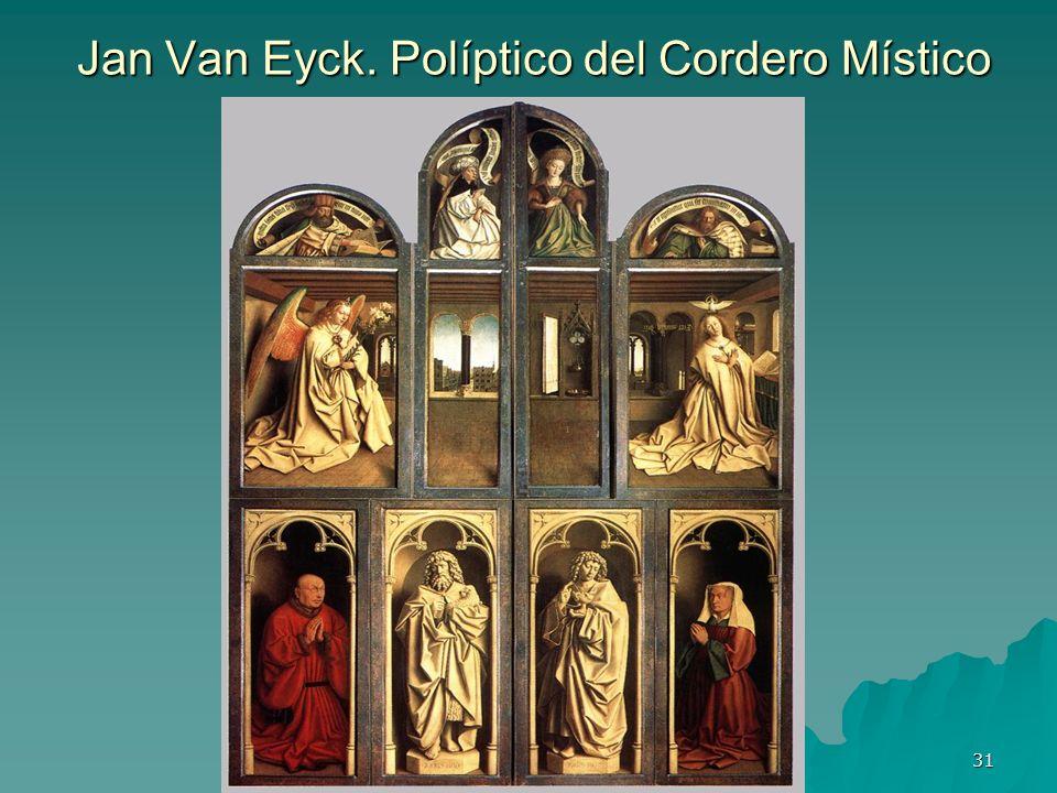 Jan Van Eyck. Políptico del Cordero Místico