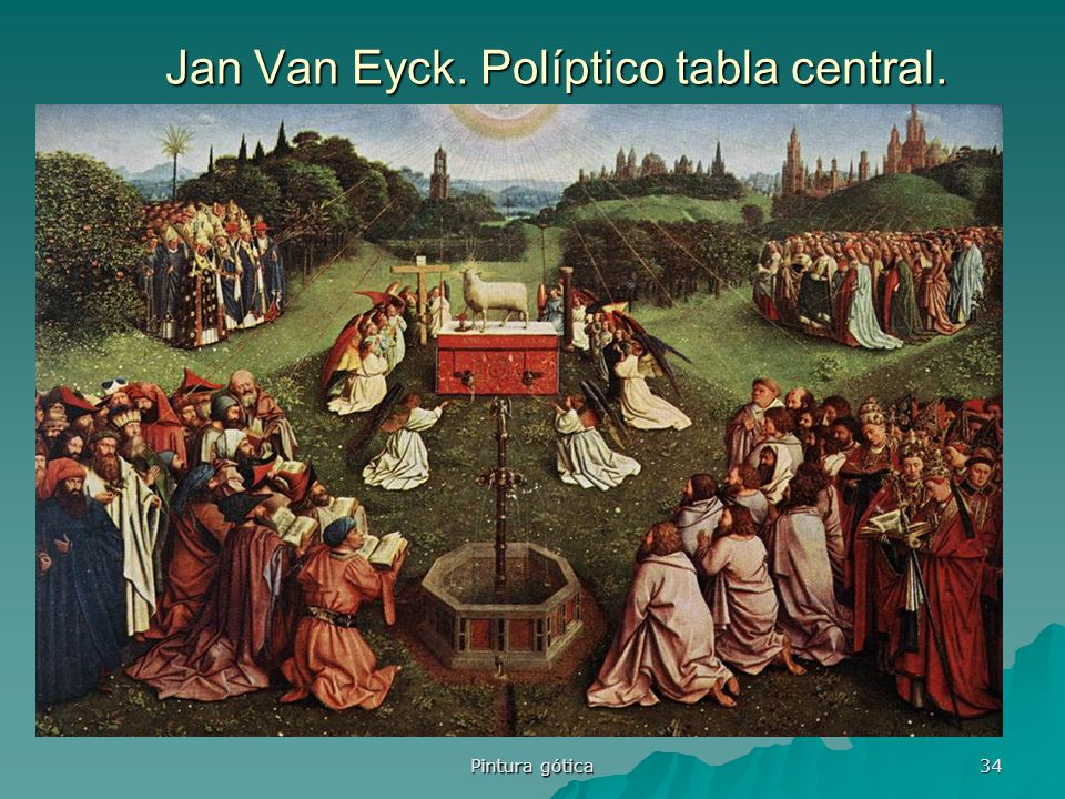 Jan Van Eyck. Políptico tabla central.