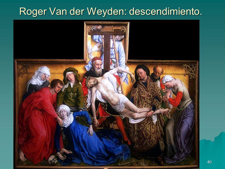 Roger Van der Weyden: descendimiento.