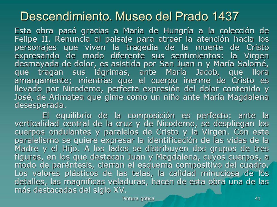 Descendimiento. Museo del Prado 1437