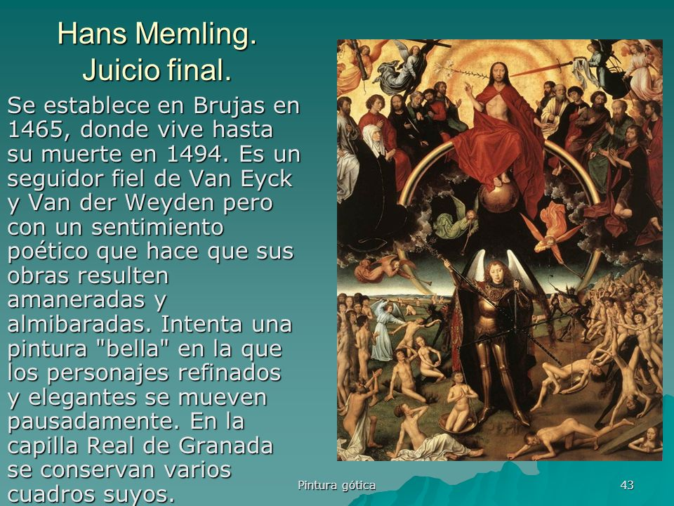 Hans Memling. Juicio final.