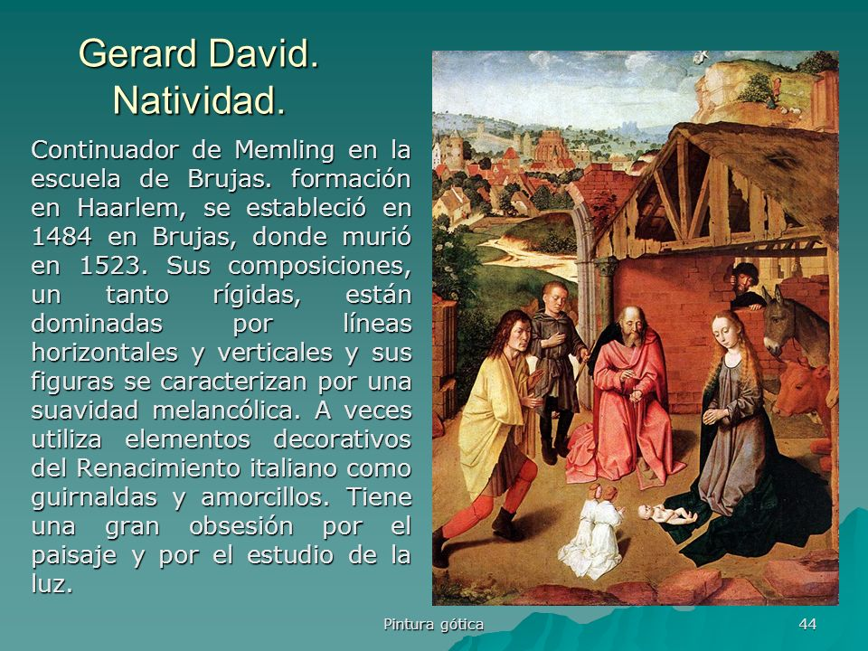 Gerard David. Natividad.