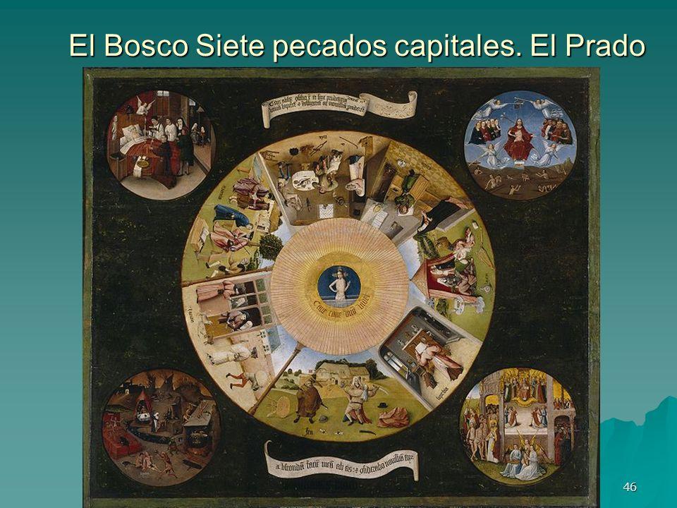 El Bosco Siete pecados capitales. El Prado
