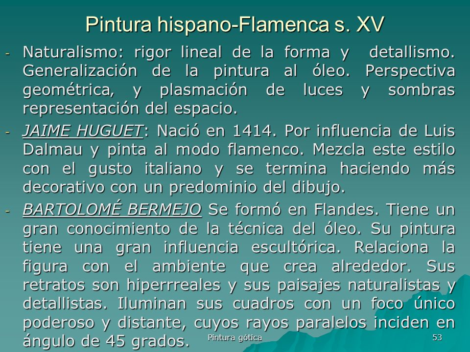 Pintura hispano-Flamenca s. XV
