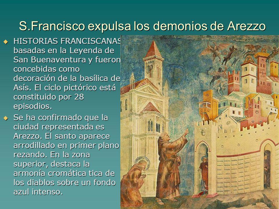 S.Francisco expulsa los demonios de Arezzo