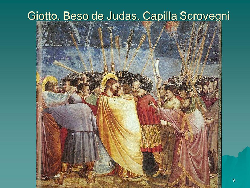 Giotto. Beso de Judas. Capilla Scrovegni