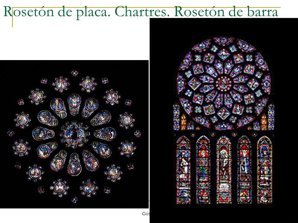 Rosetón de placa. Chartres. Rosetón de barra
