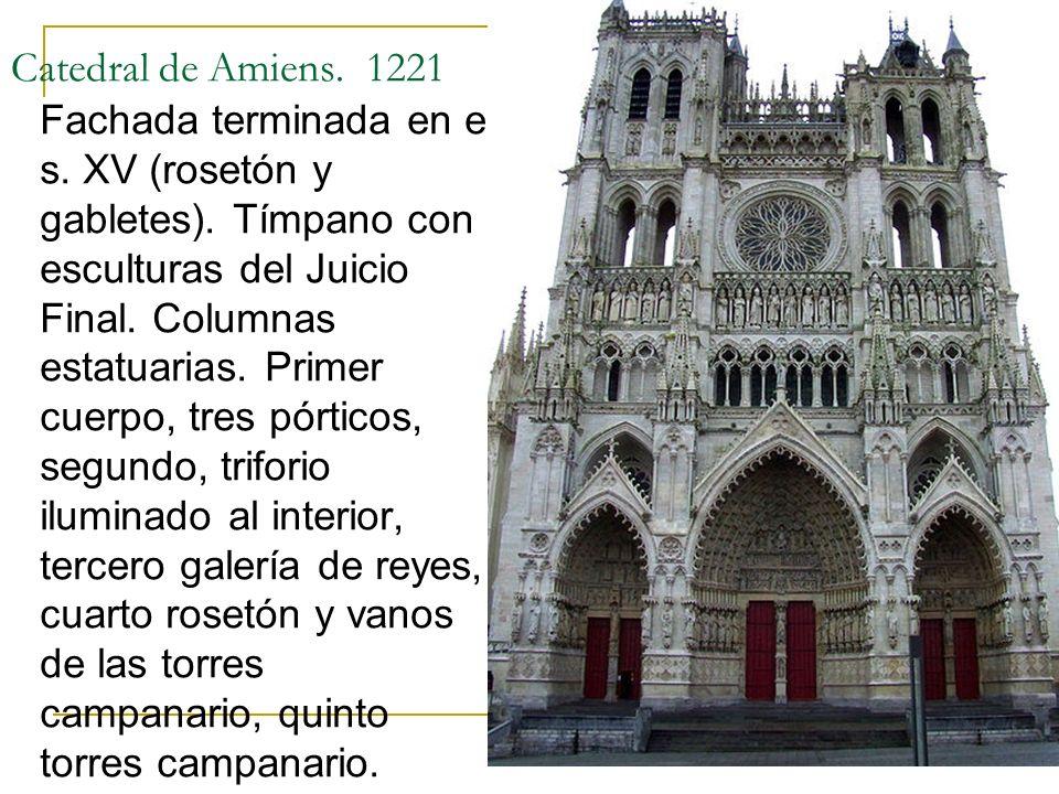 Catedral de Amiens. 1221