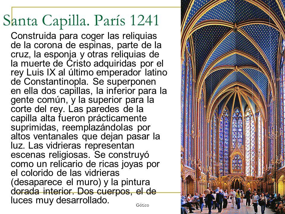 Santa Capilla. París 1241