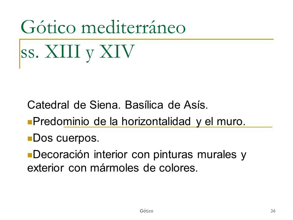 Gótico mediterráneo ss. XIII y XIV