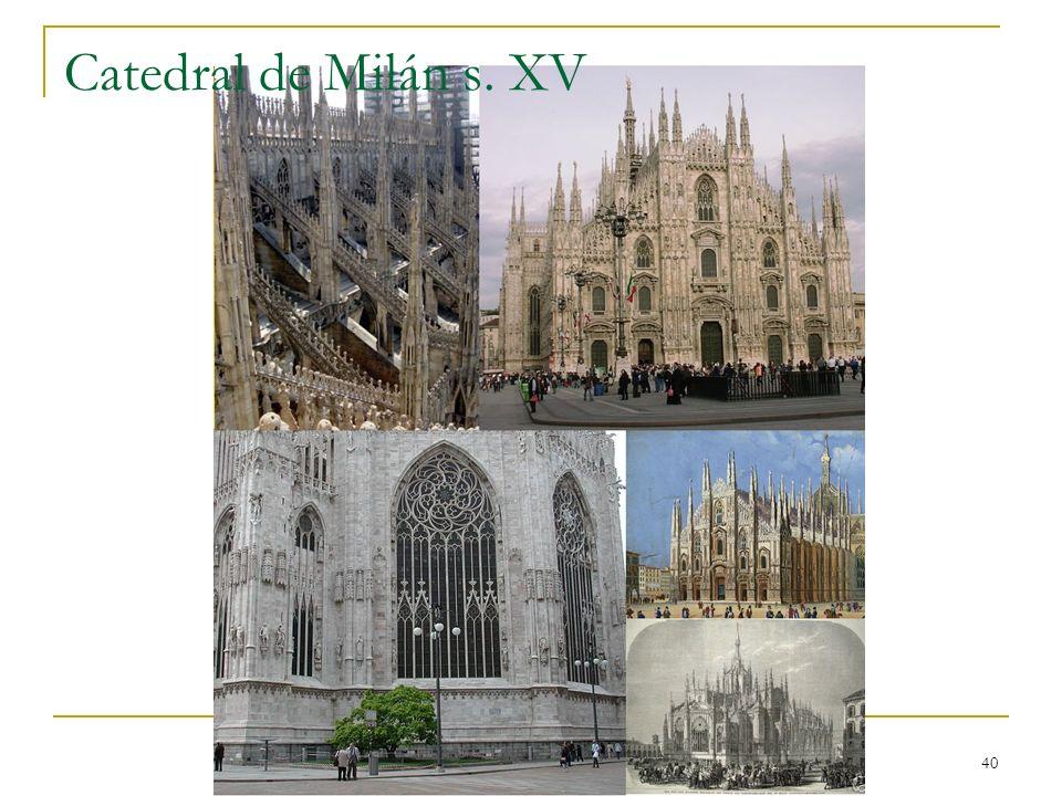 Catedral de Milán s. XV Gótico