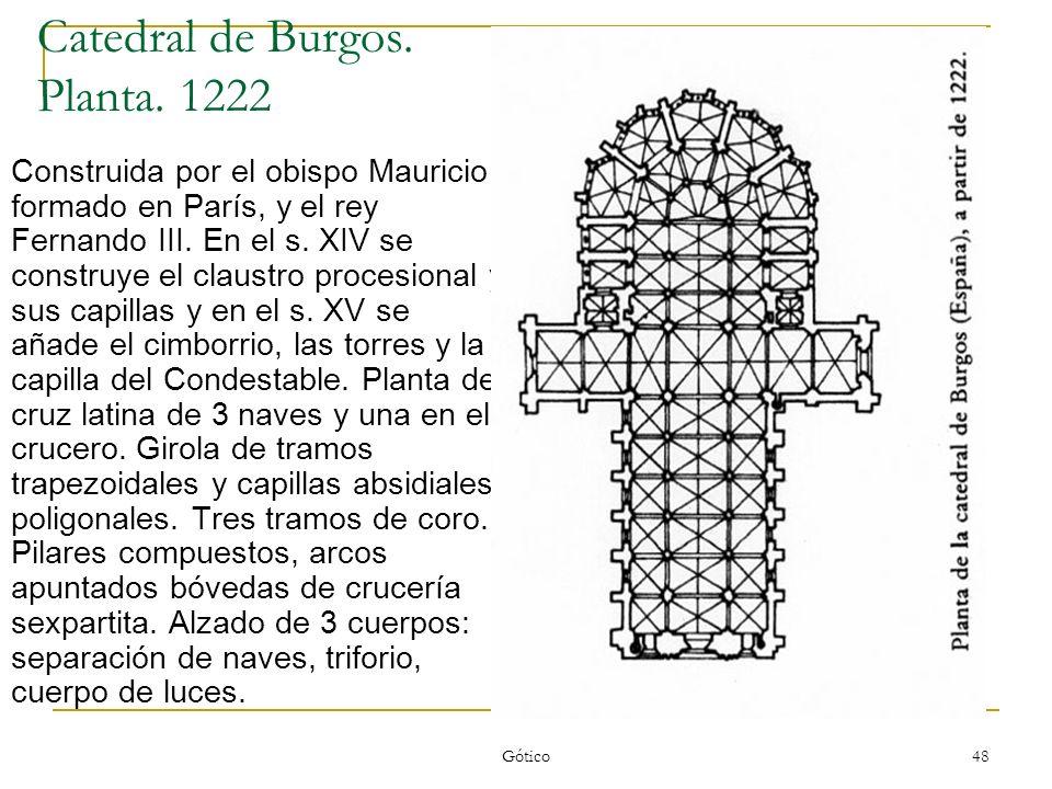Catedral de Burgos. Planta. 1222